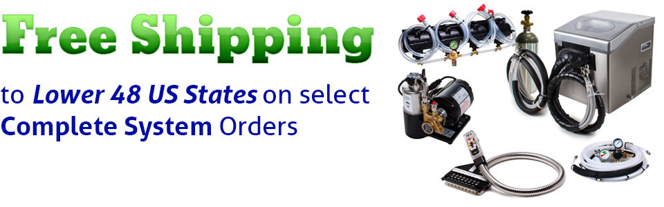 Free shipping to 48 Contiguous US States with purchase of select Complete Soda Fountain Systems