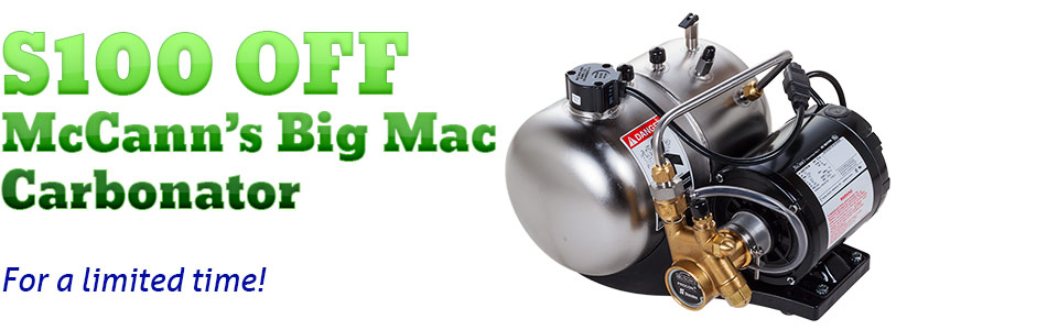 $100 OFF McCann's Big Mac Carbonator - For a limited time!